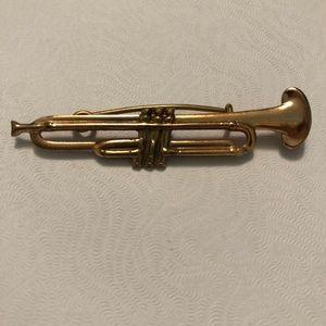 Vintage trumpet pin